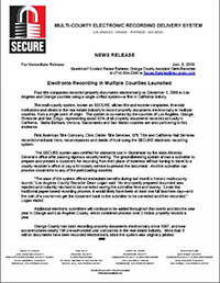 Press Release - SECURE 1-10